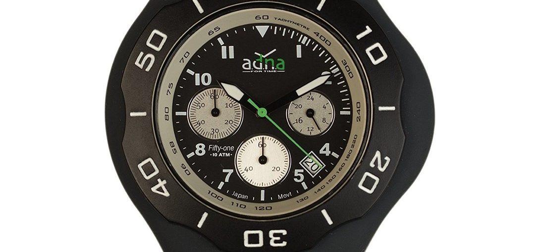 Montre Adna - CHRONO 51 Black - Étanche 100 m